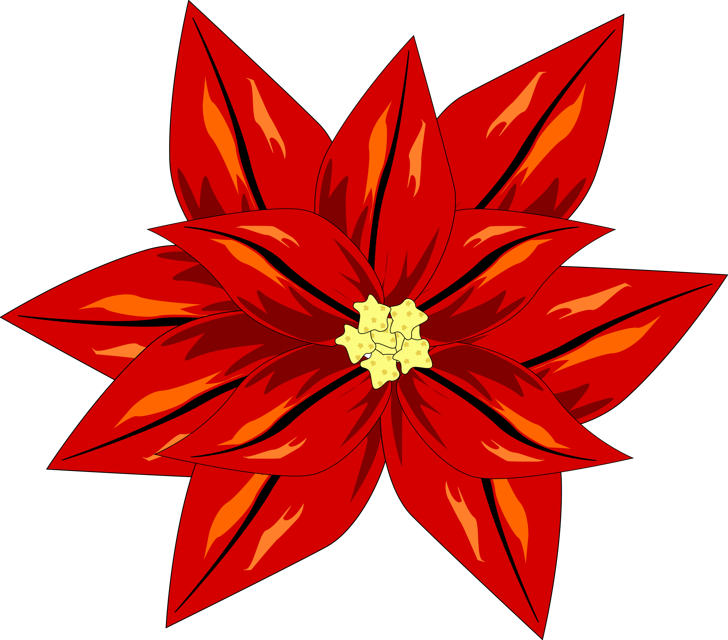 Winter flower clipart graphic royalty free library Clipart - FLOR ROJA graphic royalty free library