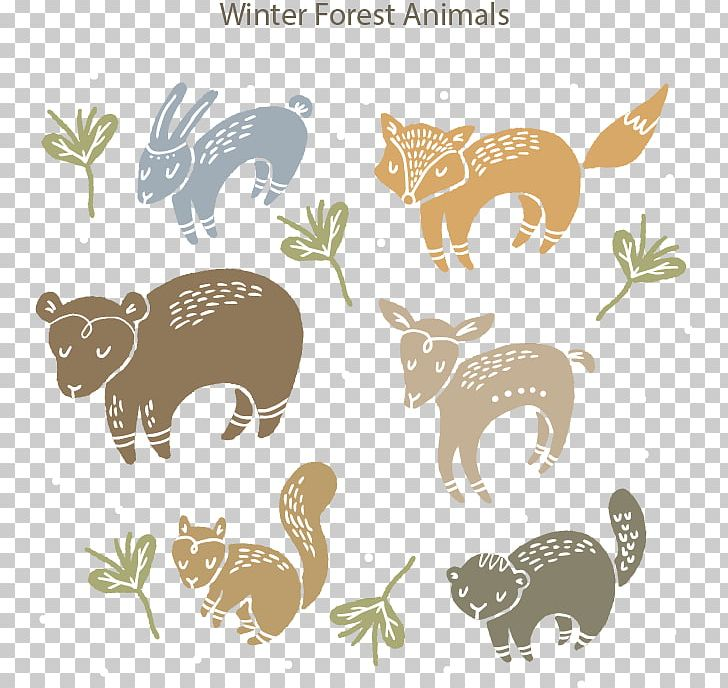 Winter forest animals clipart png transparent library Forest Animals Squirrel Illustration PNG, Clipart, Animal ... png transparent library