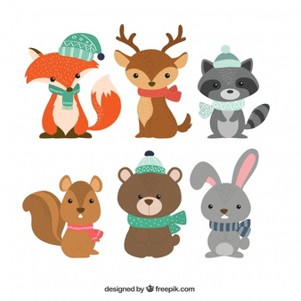 Winter forest animals clipart freeuse Woodland Animals Vectors, Photos and PSD files | Free Download freeuse