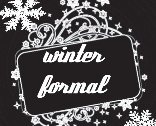 Winter formal dance clipart