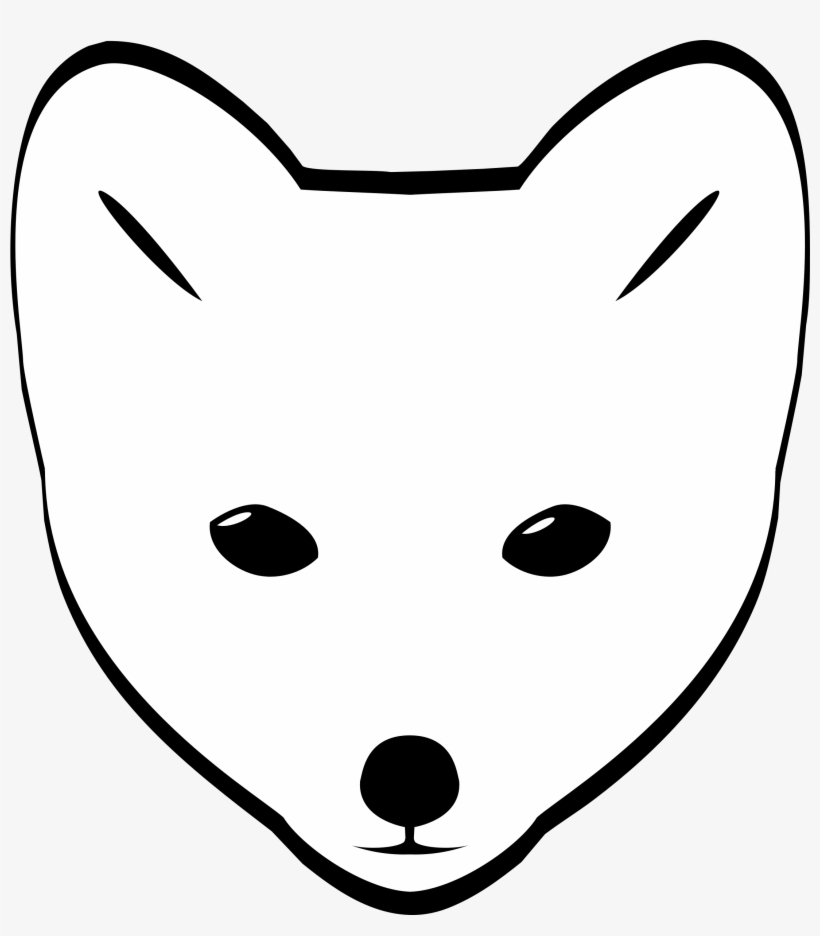 Winter fox in snow clipart clip royalty free library Clipart Arctic Fox Head - Fox Face Drawing Easy - Free ... clip royalty free library