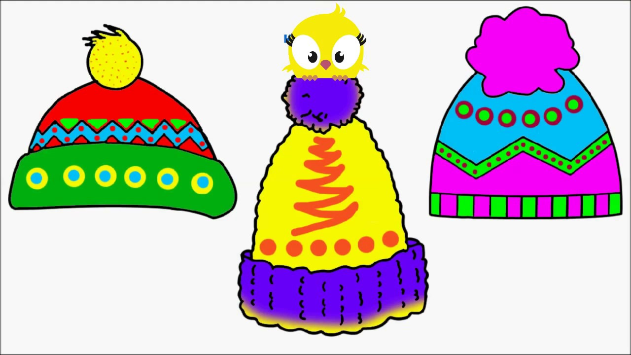 Winter hat on child clipart clip transparent stock How To Draw WINTER HAT Coloring Pages Videos for Children Art Colours for  Children clip transparent stock