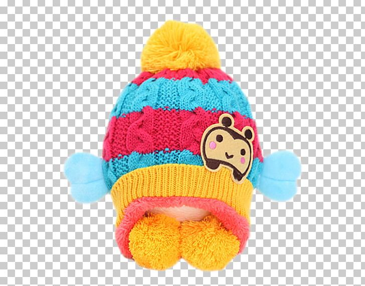 Winter hat on child clipart