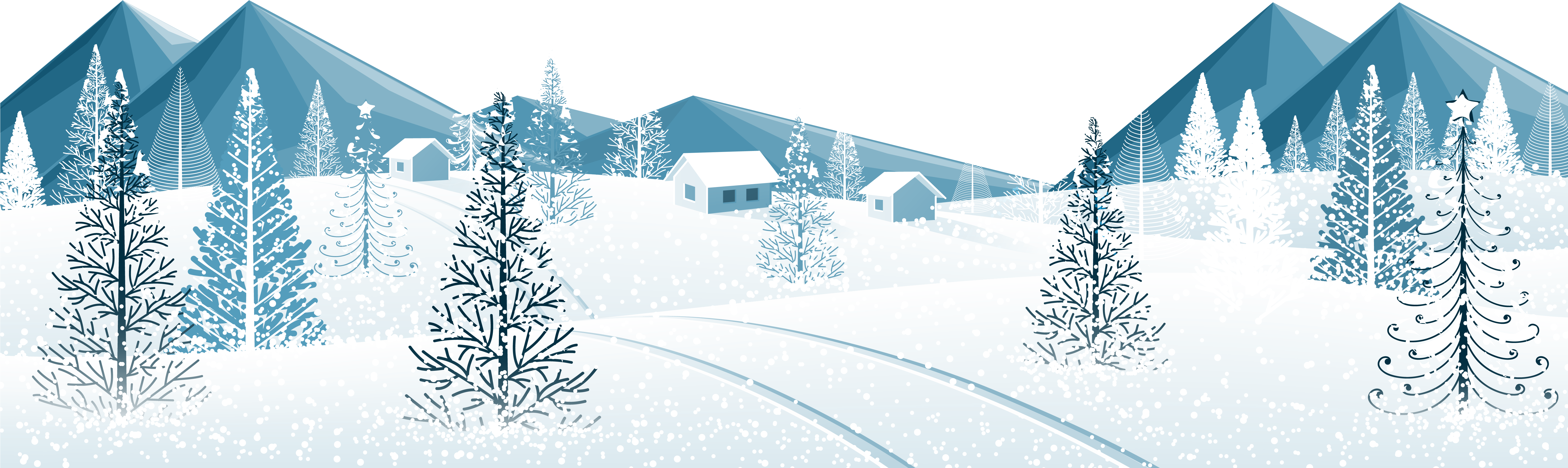 Winter hearts and snow clipart jpg black and white library HD Winter Ground With Trees - Winter Snow Tree Png , Free ... jpg black and white library