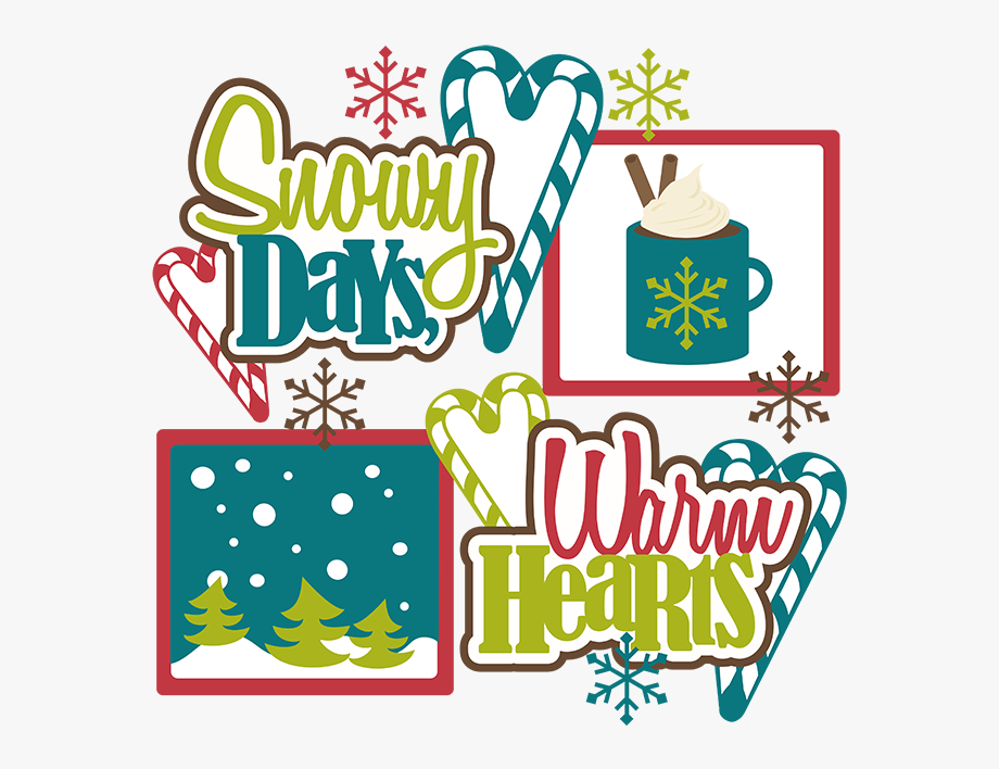 Winter hearts and snow clipart image transparent Snowy Days, Warm Hearts Svg Scrapbook Collection Snow ... image transparent