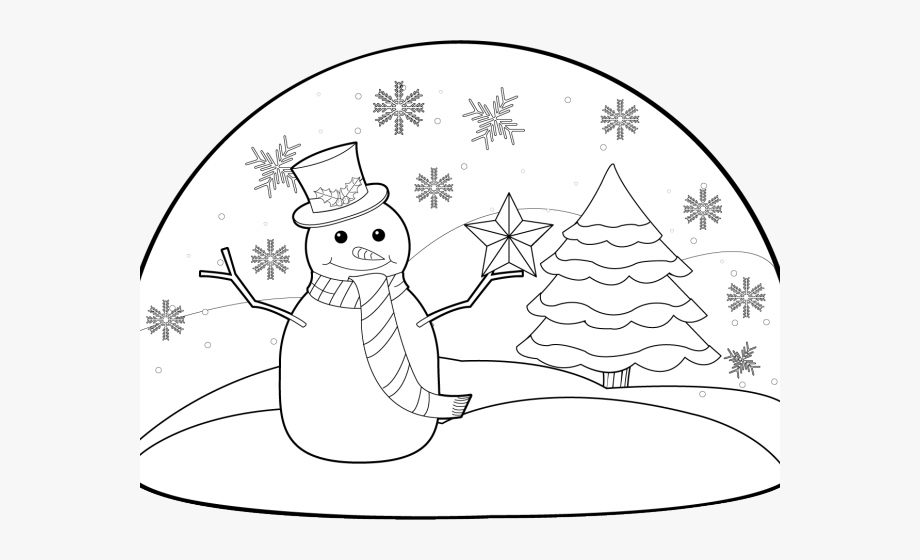 Winter holiday clipart black and white free jpg transparent download Snow Clipart Drawing - Winter Holiday Clip Art Black And ... jpg transparent download