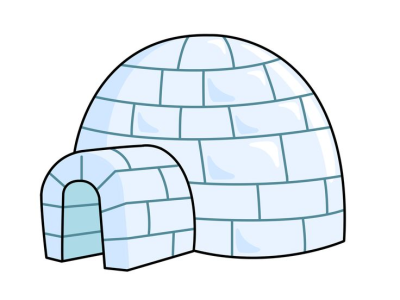 Winter igloos clipart