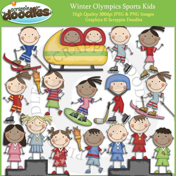 Winter olympics sports clipart clipart free download Winter Sports Kids | feb/march holidays & special days ... clipart free download