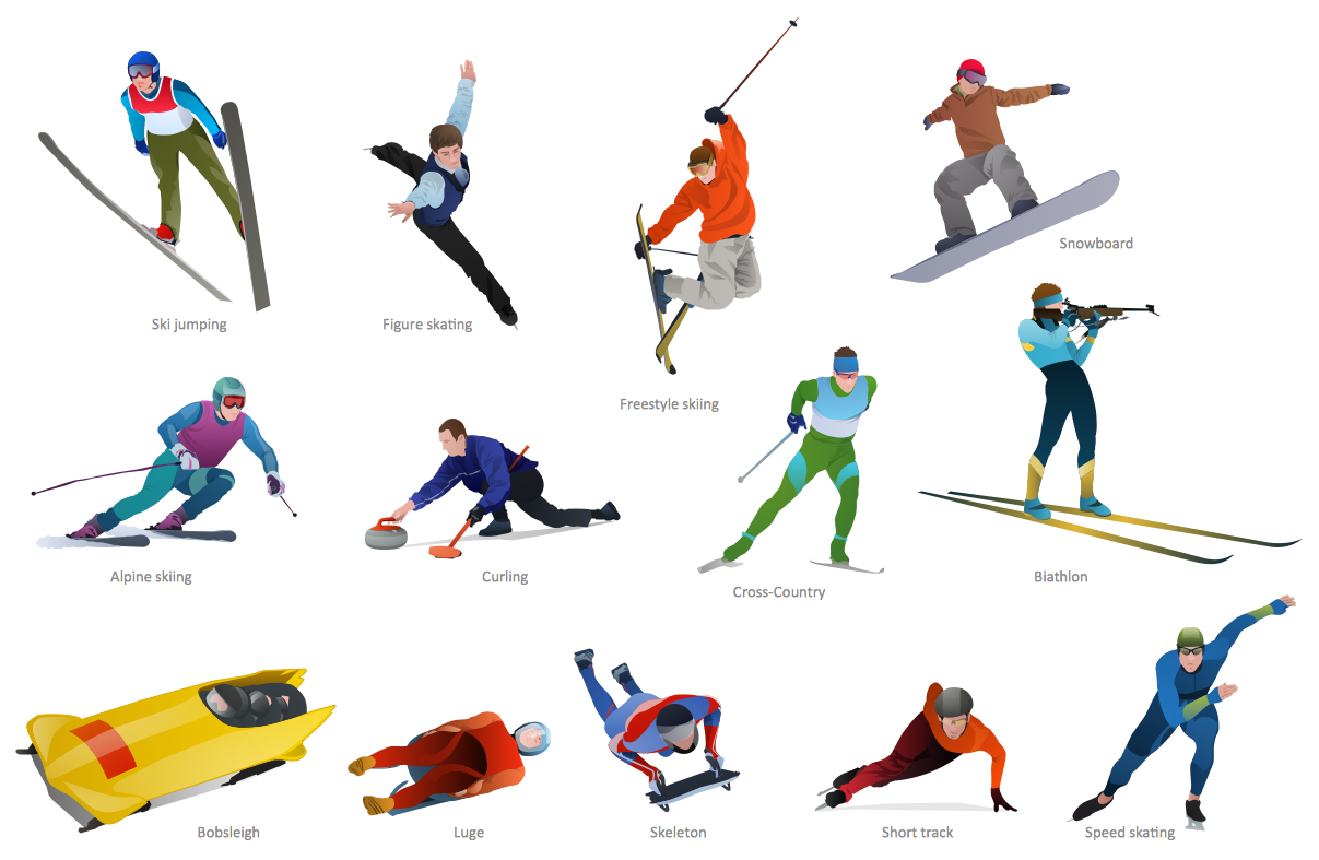 Winter olympics sports clipart vector free stock Winter Olympic Sports Clip Art free image vector free stock