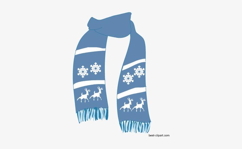 Winter scarf clipart graphic Light Blue Scarf, Free Winter Season Clip Art - Transparent ... graphic