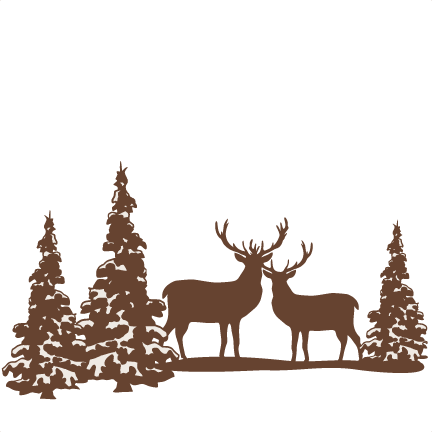 Winter scene with deer clipart graphic freeuse library Deer Scene Cliparts | Free download best Deer Scene Cliparts ... graphic freeuse library