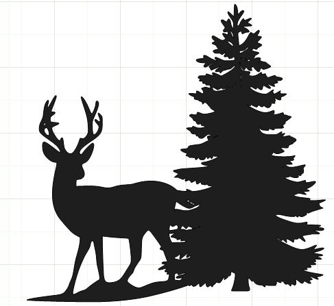 Winter snow clipart silhouette clip art free stock Deer Scene Cliparts | Free download best Deer Scene Cliparts ... clip art free stock