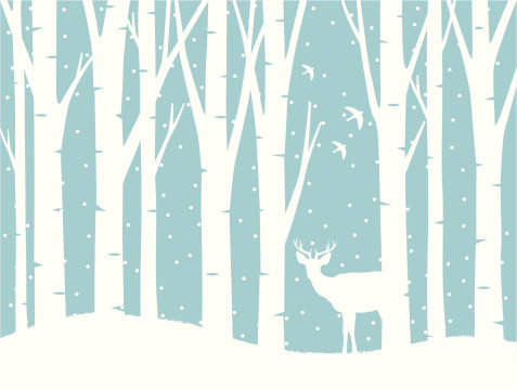 Winter scene with deer clipart vector black and white library Free Snow Silhouette Cliparts, Download Free Clip Art, Free ... vector black and white library
