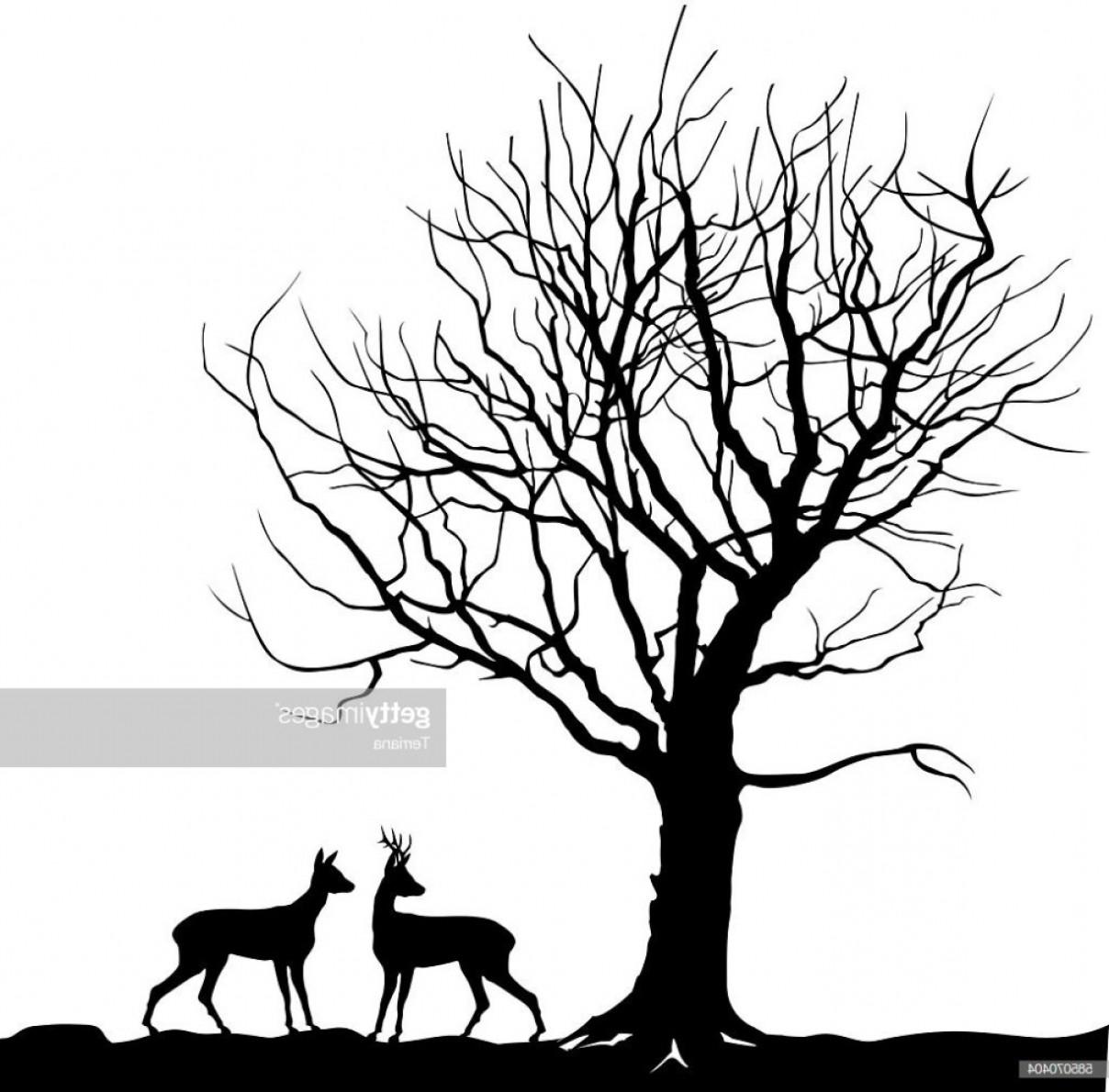 Winter scene with deer clipart png free download Winter Landscape With Deer Clip Art | HandandBeak png free download