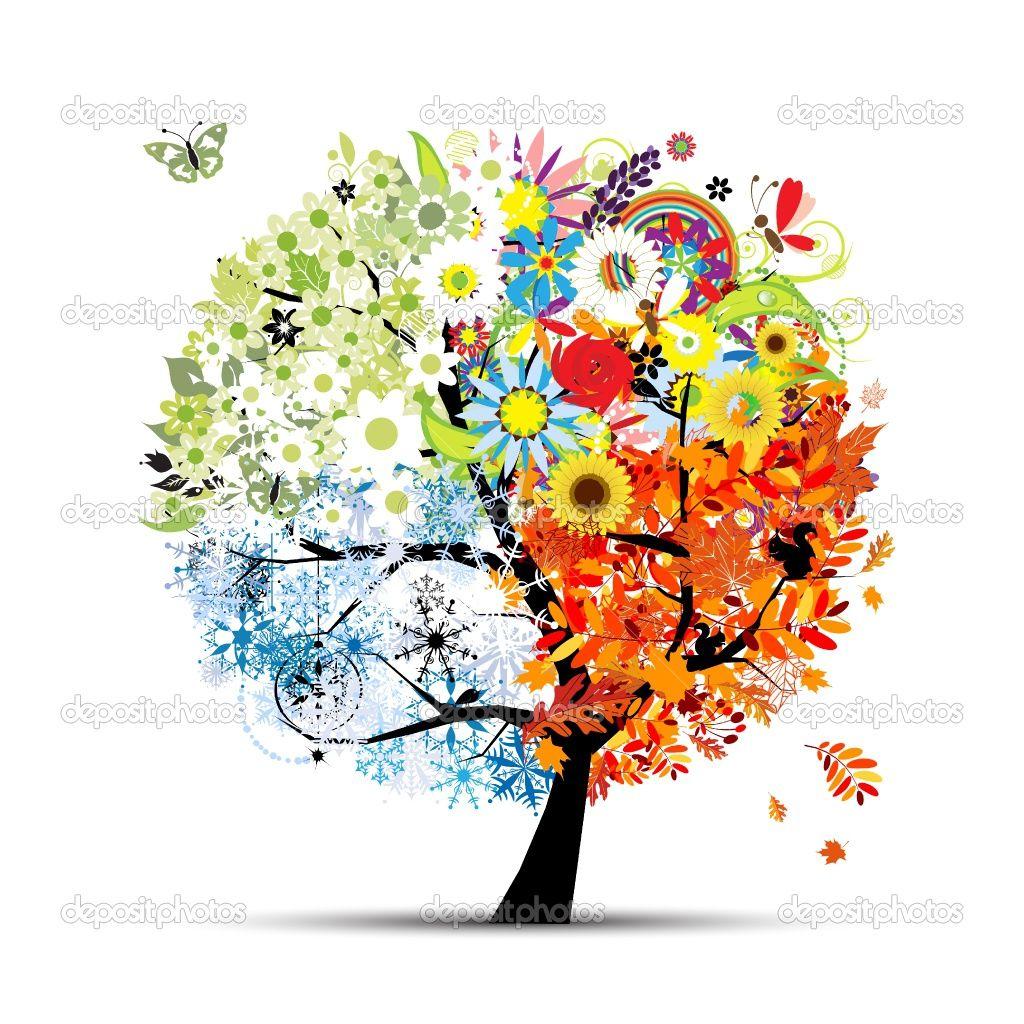Winter scriptural clipart svg library download summer clip art | Four seasons - spring, summer, autumn ... svg library download