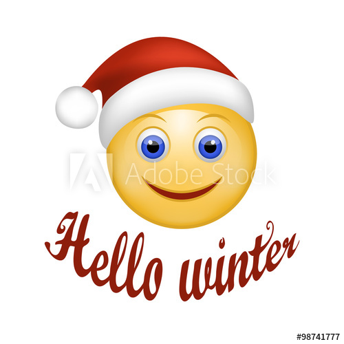 Winter smiley face clipart picture royalty free library Smiley Face happy Santa Claus. Face emoticon wearing Santa ... picture royalty free library