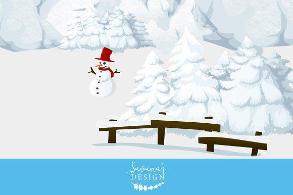 Winter snow picnic clipart svg free Winter Wonderland Clipart svg free