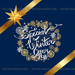 Winter special clipart png freeuse stock Special Winter Offer in Frame Made of Snowflakes - vector ... png freeuse stock