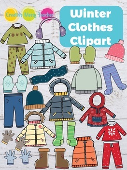 Winter teacher clipart graphic freeuse library Winter Clothes Clipart graphic freeuse library