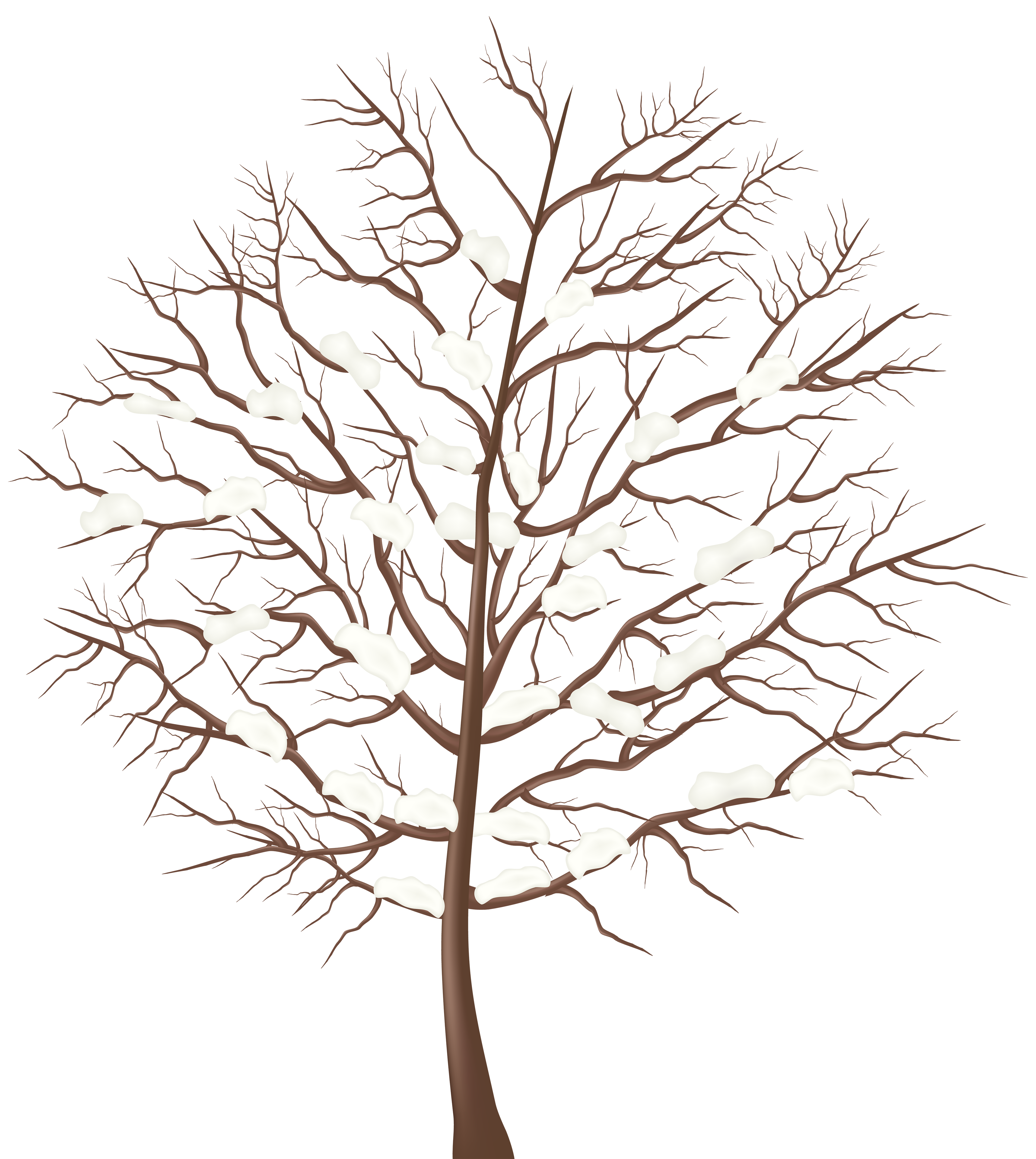 Winter transparent clipart black and white Winter Tree Transparent PNG Clip Art Image | Gallery ... black and white