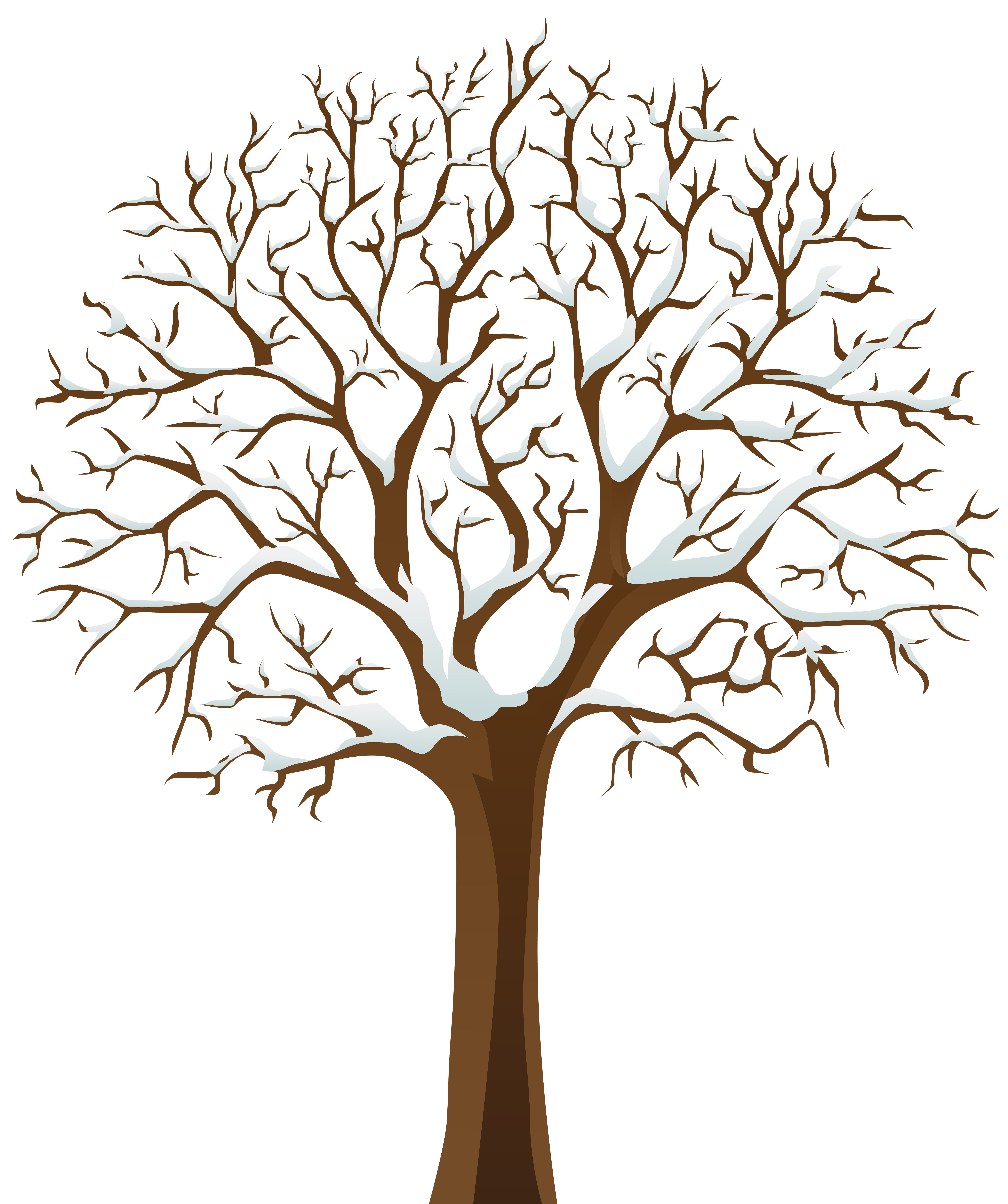Winter transparent clipart clipart free Snowy Winter Tree Transparent PNG Image | Gallery ... clipart free