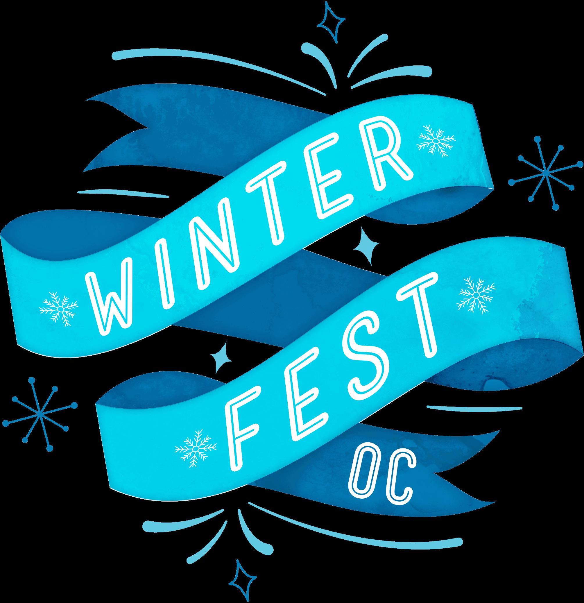Winterfest clipart transparent banner download Schedule   Winter Fest OC 2019 banner download