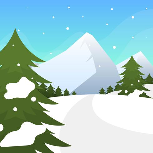 Winterforrest free clipart clipart download Flat Winter Forest Vector Illustration - Download Free ... clipart download