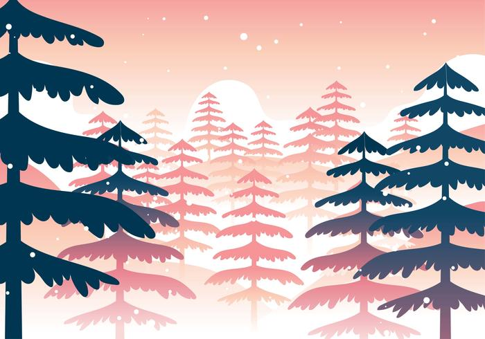 Winterforrest free clipart picture library library Winter Forest Landscape - Download Free Vectors, Clipart ... picture library library