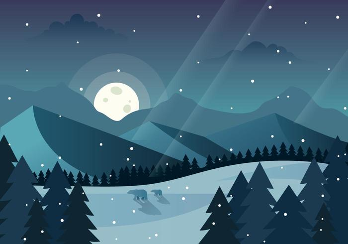 Winterforrest free clipart png royalty free Winter Forrest Illustration - Download Free Vector Art ... png royalty free
