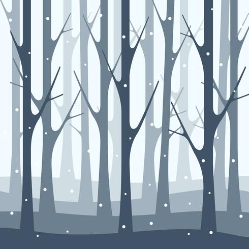 Winterforrest free clipart banner royalty free download Snowfall Winter Forest Nature Illustration Background ... banner royalty free download