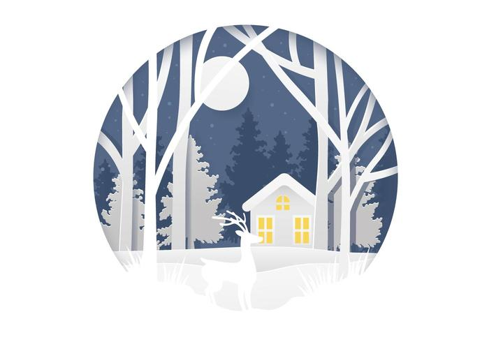 Winterforrest free clipart clip art free stock Winter Forrest Illustration - Download Free Vector Art ... clip art free stock
