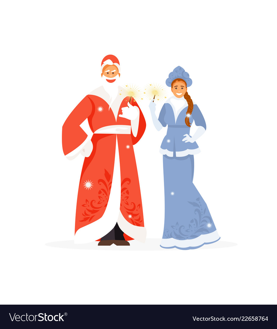 Winterforrest free clipart jpg library Father frost and snow maiden jpg library