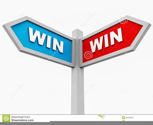 Win-win vector clipart