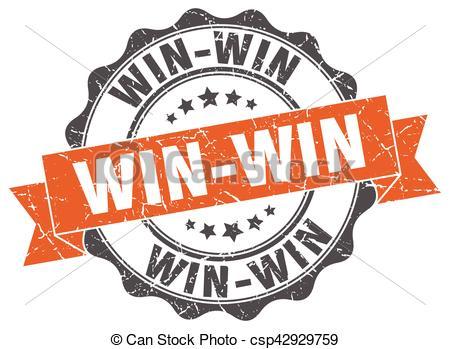 Win-win clipart clip art freeuse stock win-win stamp. sign. seal clip art freeuse stock