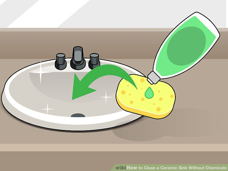 Wipe bathroom sink clipart jpg free 3 Ways to Clean a Ceramic Sink Without Chemicals - wikiHow jpg free
