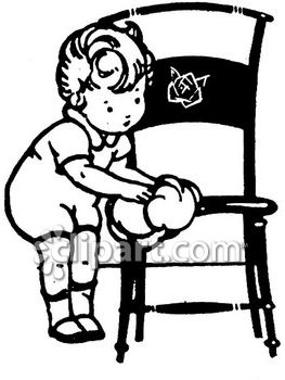 Wiping chairs clipart