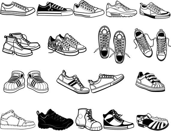 Wiping shoes clipart clipart transparent stock Buy 3 Get 1 Free...17 Shoes svg-Sneakers vector-Mens Shoes ... clipart transparent stock