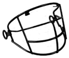 Wire face frame clipart svg library download Amazon.com : T-Ball Wire Frame Face Guard for All-Star T ... svg library download