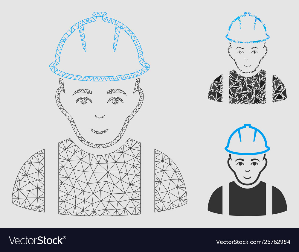 Wire face frame clipart clipart black and white Contractor mesh wire frame model and clipart black and white