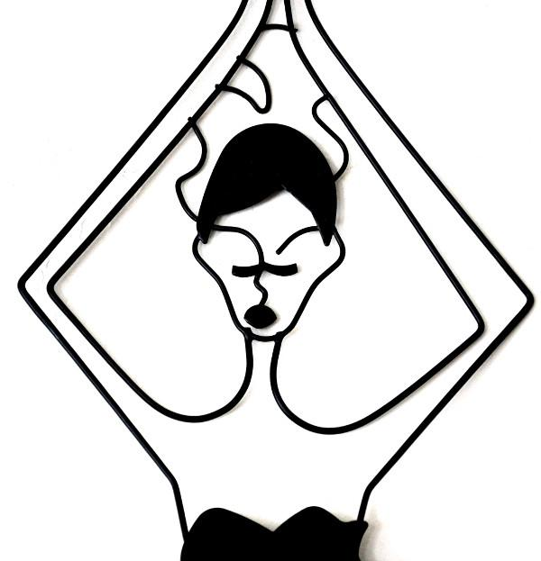 Wire face sillouette clipart royalty free download Urban Metal Wire Silhouette Yoga Meditation Wall Art Decor royalty free download