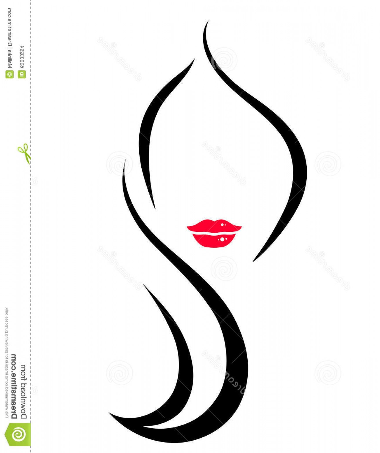 Wire face sillouette clipart image transparent Stock Illustration Hair Salon Icon Woman Art Face Silhouette ... image transparent