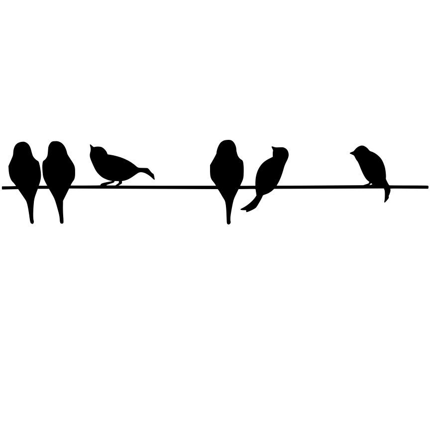 Wire face sillouette clipart graphic transparent download Bird On A Wire Silhouette | Birds | Silhouette art, Bird ... graphic transparent download