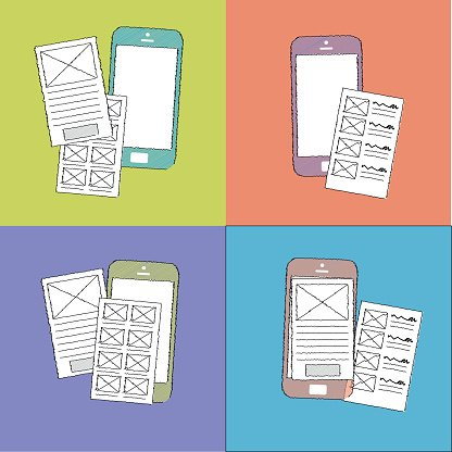 Wireframes clipart picture free download Mobile Wireframes Prototyping Mobile Interfaces premium ... picture free download
