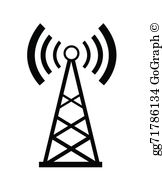 Wireless towers clipart clip library Cell Phone Transmitter Tower Clip Art - Royalty Free - GoGraph clip library