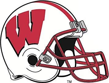 Wisconsin badgers logo clipart banner transparent Amazon.com: 3 inch UW Football Helmet Decal UW University of ... banner transparent