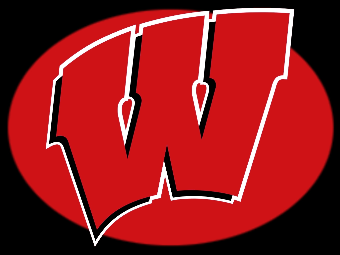 Wisconsin badgers logo clipart vector black and white stock Free Wisconsin Football Cliparts, Download Free Clip Art ... vector black and white stock