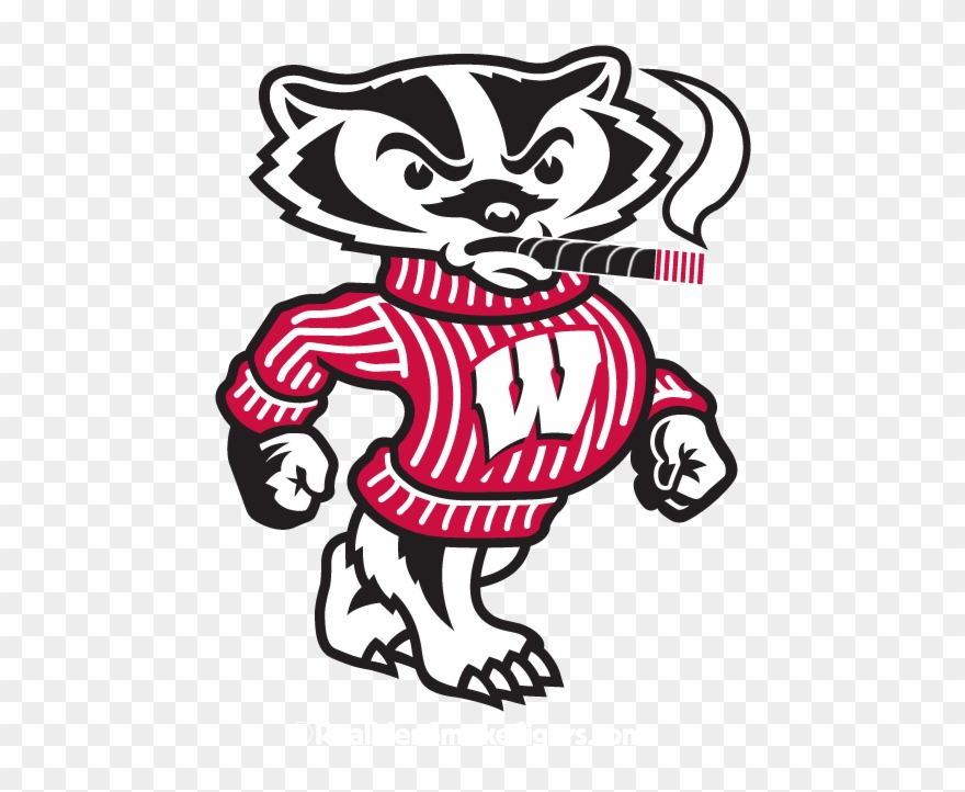 Wisconsin badgers logo clipart image black and white stock Perdomo - Wisconsin Badgers Logo Bucky Clipart (#1555279 ... image black and white stock