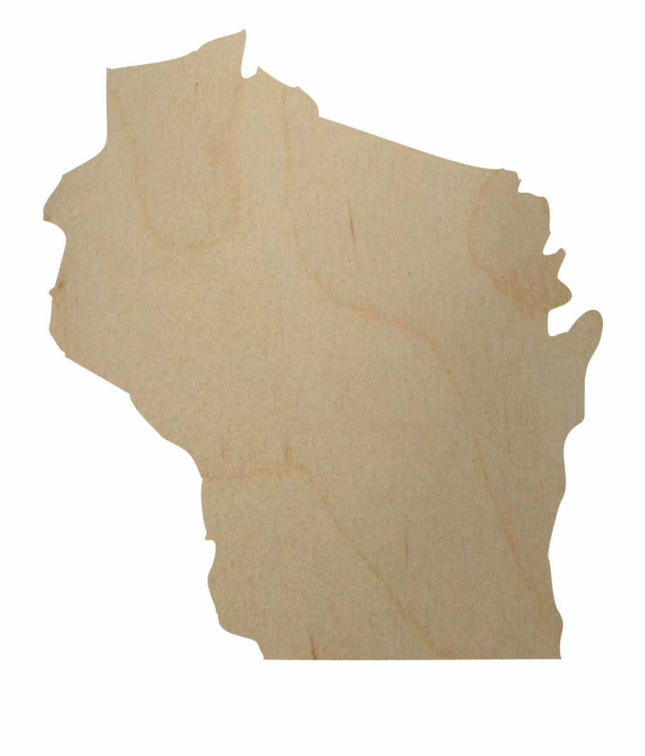 Wisconsin clipart heart picture free stock Wisconsin State Wood Cutout - Tree Free PNG Images & Clipart ... picture free stock
