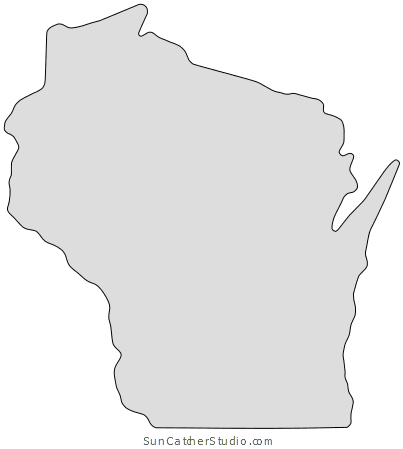 Wisconsin clipart heart clipart download Wisconsin - Map Outline, Printable State, Shape, Stencil ... clipart download