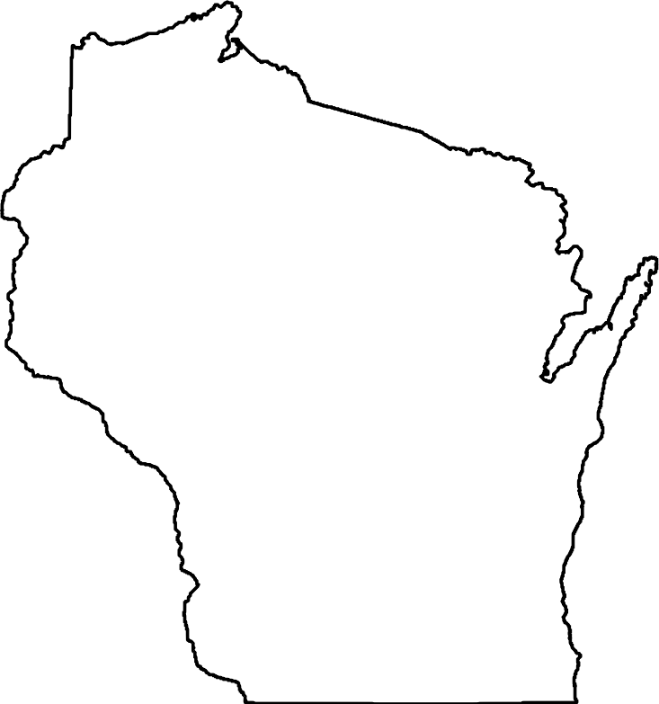 Wisconsin map clipart png library stock Wisconsin Outline | Free download best Wisconsin Outline on ... png library stock